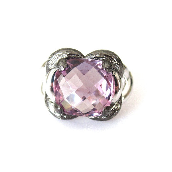 ToffeeTaffy Amethyst Silver Ring - Brownie Sparkles