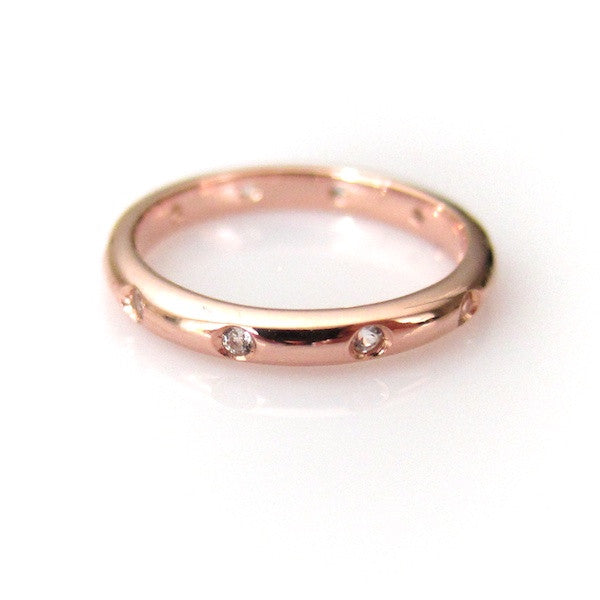 ToffeeTaffy Rose Gold CZ Ring - Brownie Sparkles