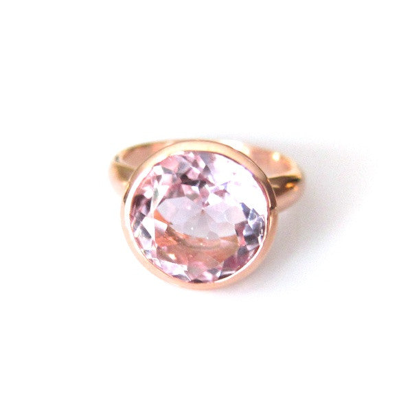 ToffeeTaffy Rose Gold Large Amethyst Ring - Brownie Sparkles