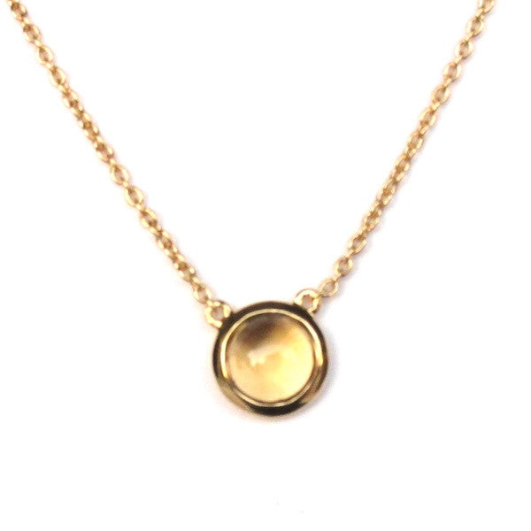 ToffeeTaffy Citrine Coin Necklace - Brownie Sparkles