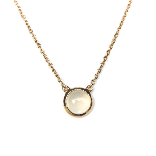 ToffeeTaffy Moonstone Coin Necklace - Brownie Sparkles