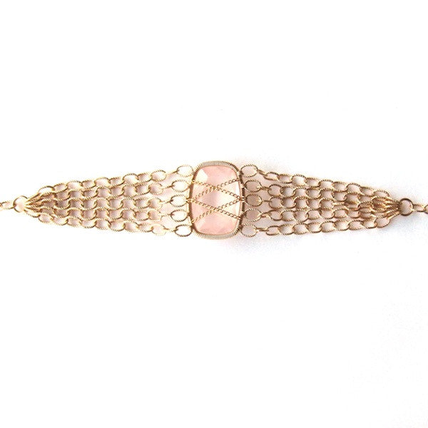 Leah Rose Quartz Bracelet - Brownie Sparkles