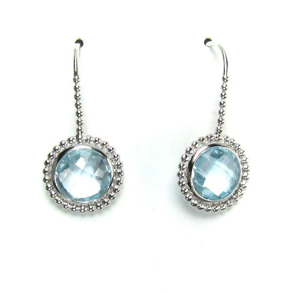 ToffeeTaffy Blue Topaz Silver  Earrings - Brownie Sparkles