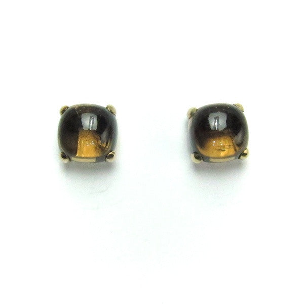 ToffeeTaffy Smoky Quartz Large Cabochon Earrings - Brownie Sparkles
