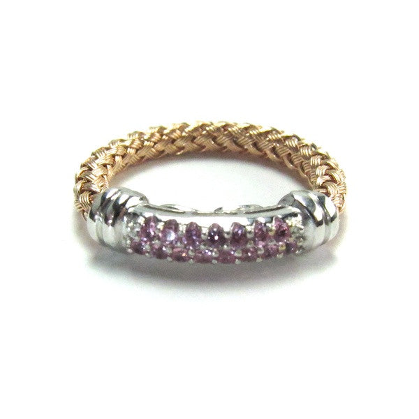 Kura Pink Sapphire Rose Gold Ring - Brownie Sparkles
