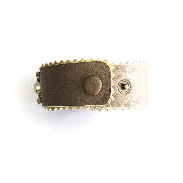 WinK Moccha Rhinestone Leather Bracelet - Brownie Sparkles - 2