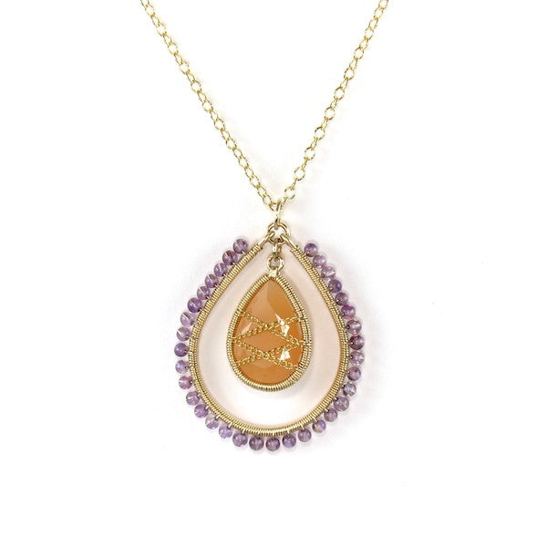 Leah Amethyst and Moonstone Necklace - Brownie Sparkles