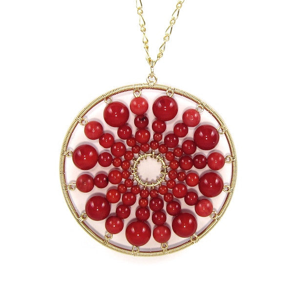 Leah Red Coral Necklace - Brownie Sparkles