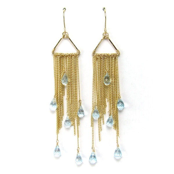 Leah Topaz Tassel Earrings - Brownie Sparkles