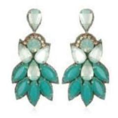 Suzanna Dai Peacock Drop  Earrings - Brownie Sparkles