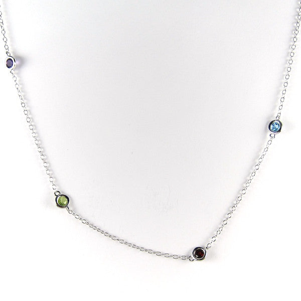 JuJu Multi Gem Long Necklace - Brownie Sparkles - 2