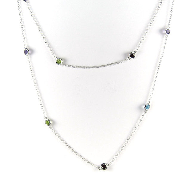 JuJu Multi Gem Long Necklace - Brownie Sparkles - 1