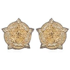 Suzanna Dai Vicenza Button Earrings - Brownie Sparkles