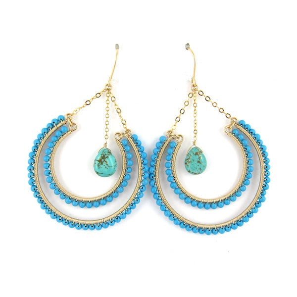 Leah Turquoise Earrings - Brownie Sparkles
