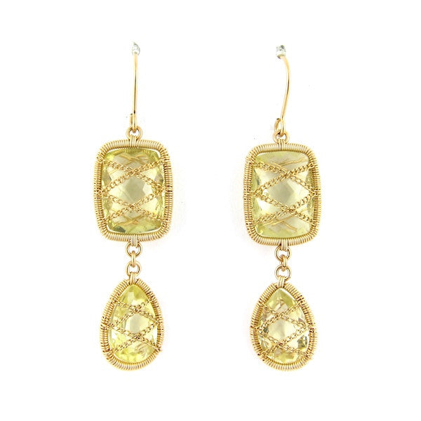 Leah Citrine 2 Drop Earrings - Brownie Sparkles