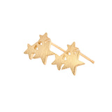 Three Star Statement Stud Earrings