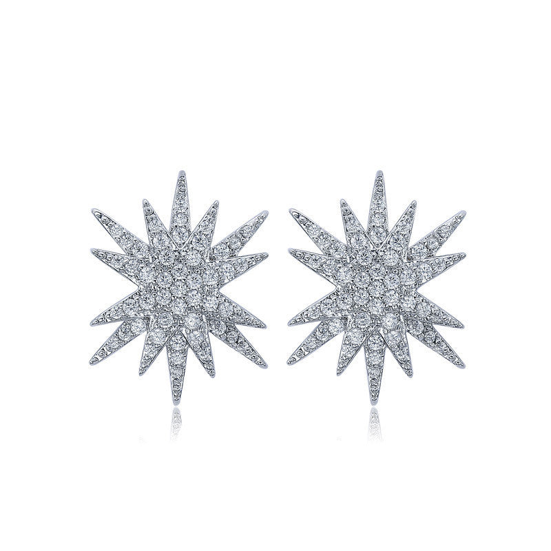 Sylvia Starburst Stud Earrings