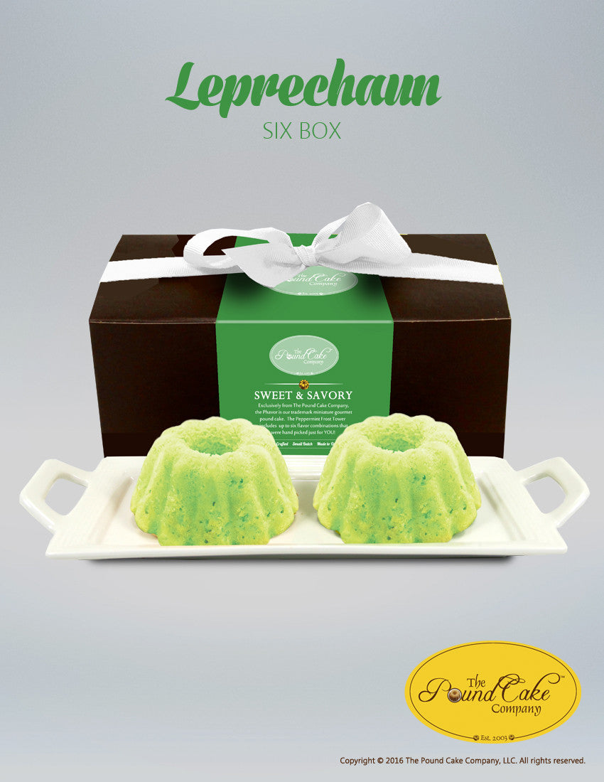 Leprechaun's Six Box - The Pound Cake Company