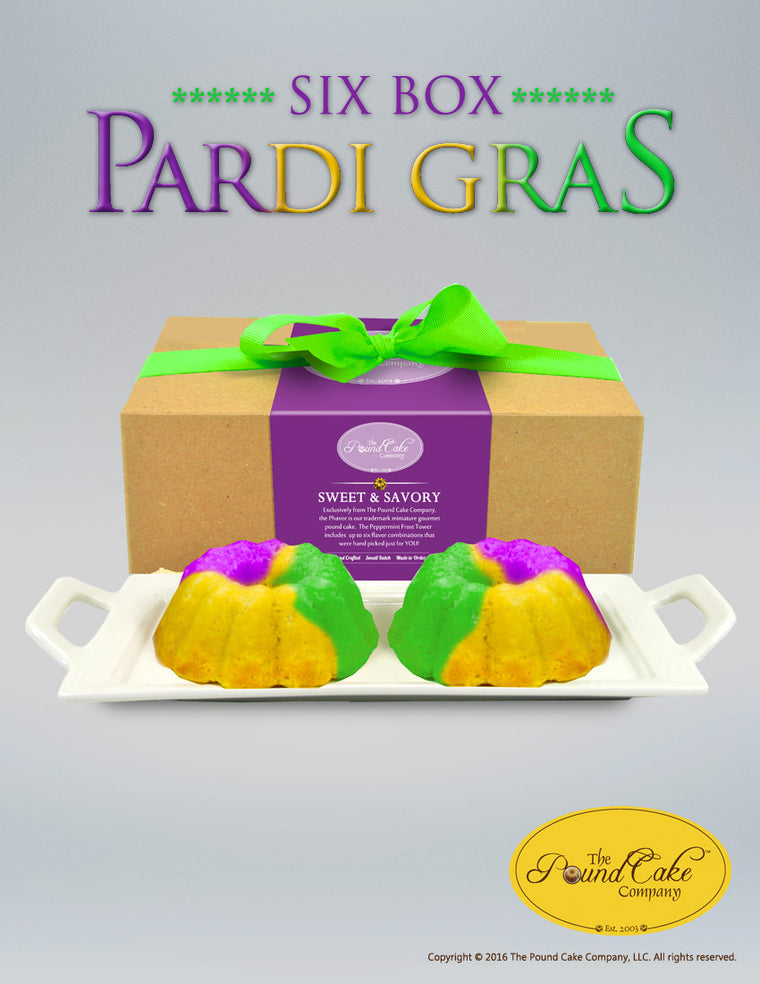 Pardi Gras Six - The Pound Cake Company