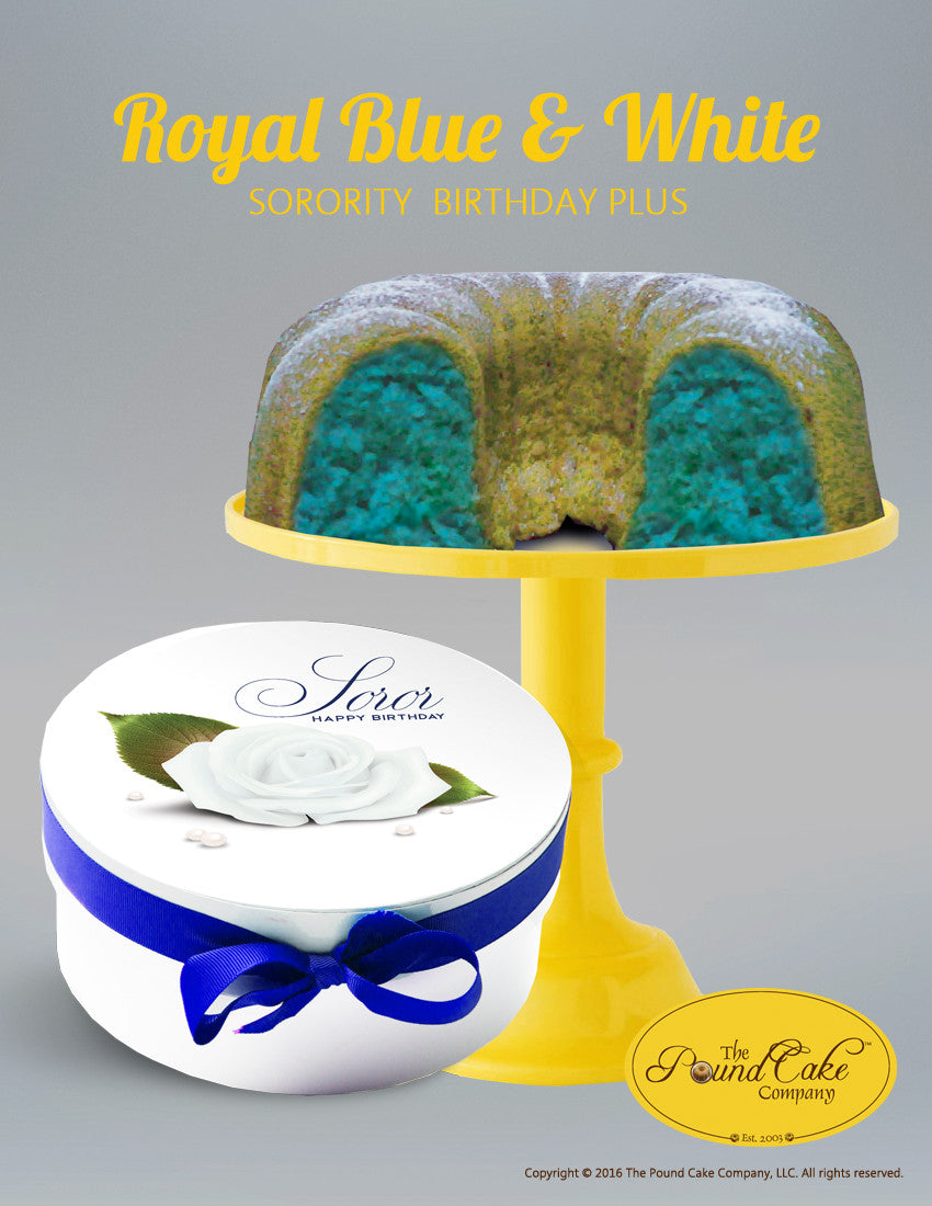 Soror Blue & White - The Pound Cake Company