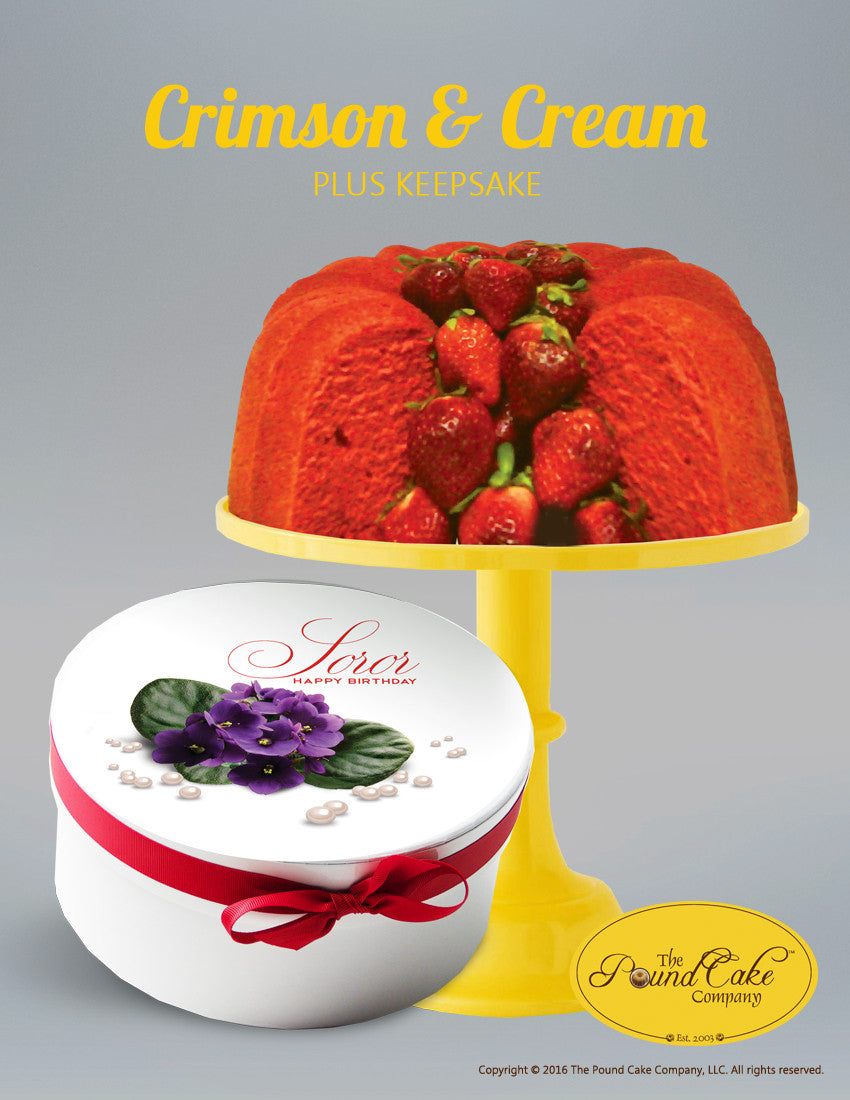 Soror Crimson & Cream - The Pound Cake Company