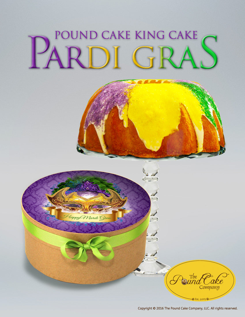 Pound Cake King Cake - The Pound Cake Company