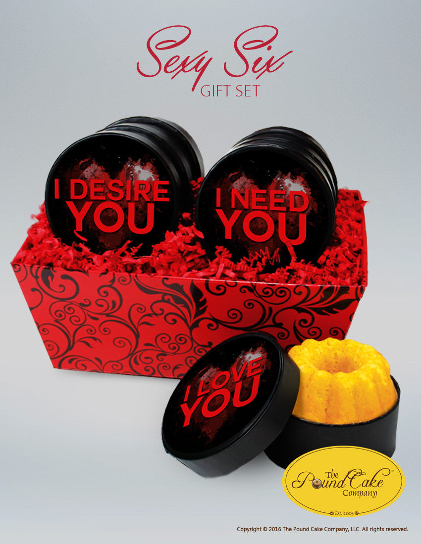 **Sexy Six Gift Set - The Pound Cake Company