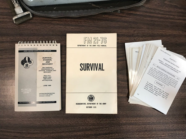 FM 21-76 and Survival, Evasion, and Recovery Manuals, plus loose updates.