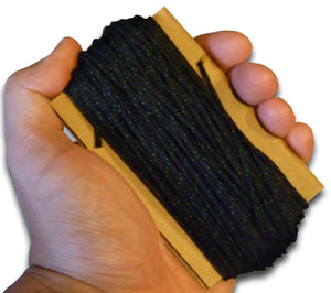 100 ft. of black PIA-C-5040 Type IA parachute cord.