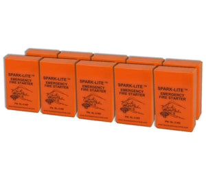 Ten packs of Orange Spark-Lite Fire Kits are also available.