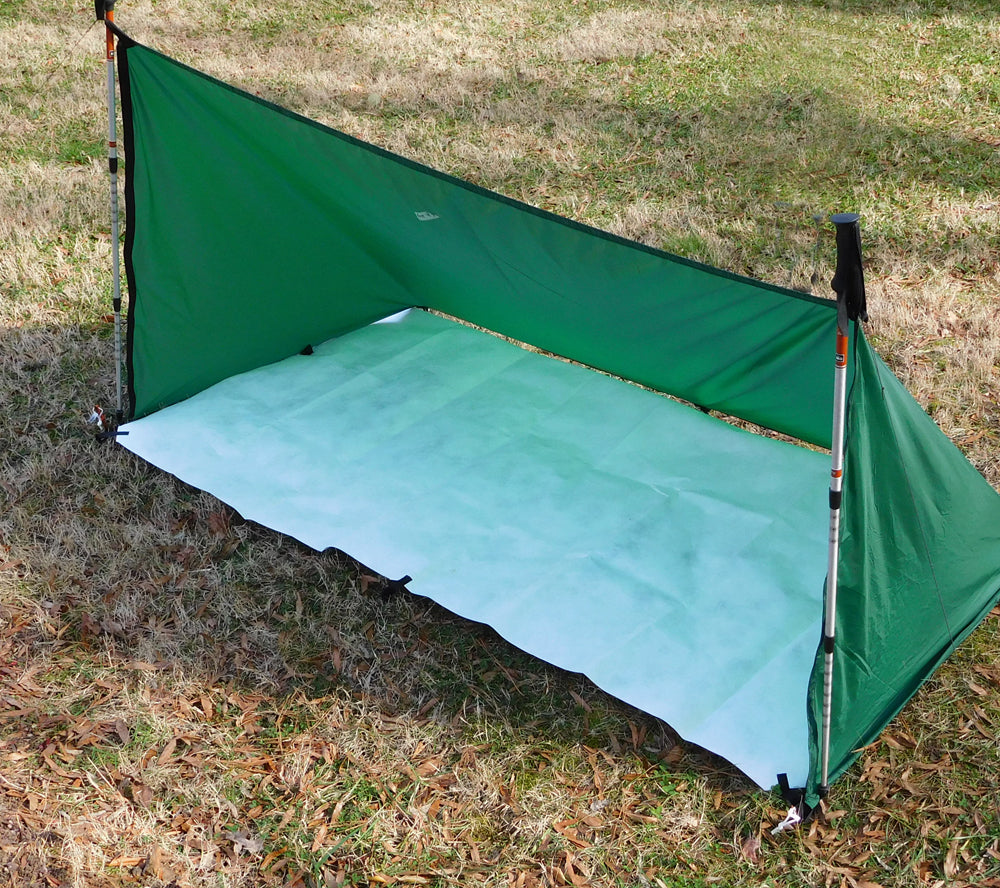 The 5col Backpacker Tyvek Footprint is great for tarp shelters.