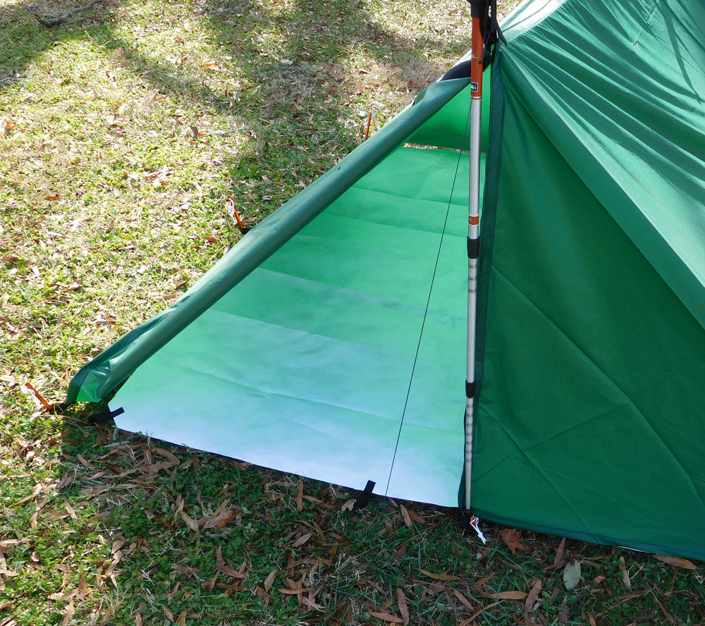 5col's Tyvek Groundcloth works with tarps and tents to provide a reliable moisture barrier.