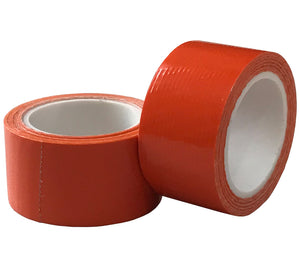 "High-visibility orange contractor grade duct tape on 1""x100"" rolls with a strong plastic core are lightweight and easy to carry in your backpack, survival kit, or glove compartment."