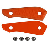 High Visibility Orange G10 Handle Scales for your Backpacker Knife from White River Knife and Tool.