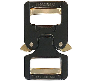 Showing the back side of the 1 in. COBRA Buckle from AustriAlpin.