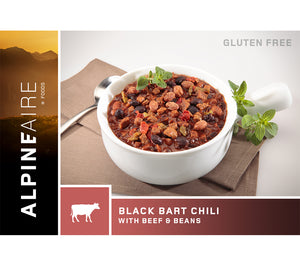 Black Bart Chili with Beef and Beans is a hearty and satisfying meal ideal for camping, backpacking, search and rescue, and emergency preparedness.