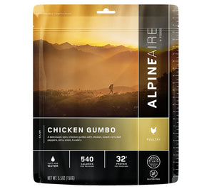 AlpineAire Foods Chicken Gumbo Freeze Dried Meal.