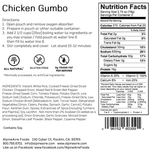 Chicken Gumbo - AlpineAire Foods Freeze-Dried Meal