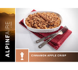 Cinnamon Apple Crisp is a tasty back country dessert ideal for backpacking, wilderness survival, and emergency preparedness.