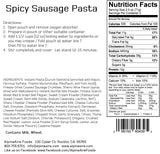 Spicy Sausage Pasta - AlpineAire Foods Freeze-Dried Meal