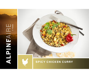 Spicy Chicken Curry from AlpineAire foods is an ultralight meal perfect for backpacking, camping, wilderness survival, and emergency preparedness.