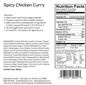 Spicy Chicken Curry - AlpineAire Foods Freeze-Dried Meal