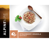 Strawberry Granola with Milk is a tasty freeze dried meal packed with calories to give you energy at the start of the day.
