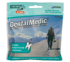 The Dental Medic kit from Adventure Medical Kits comes in a resealable pocket-sized pouch.