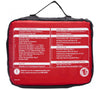 The back panel of AMK's Family First Aid Kit shows the IFAK contents list for easy inventory and maintenance.