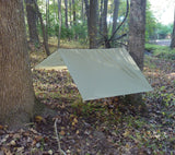Hasty tarp shelter with 5x7 RipStop Nylon Tarp from 5col