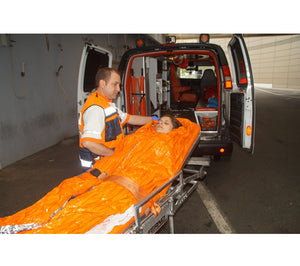 The EMS Blanket from Blizzard Protection Systems uses 2-layer Reflexcell Technology to retain heat.
