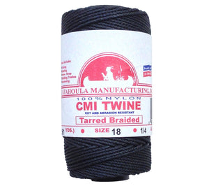 #18 tarred braided nylon bank line is available with free shipping from 5col Survival Supply.