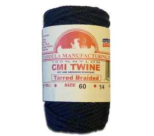 Catahoula Manufacturing #60 Tarred Braided Bank Line, 1/4 lb spool, made in USA.