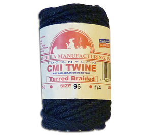 #96 Tarred Braided Bank Line from CMI, 1/4 lb spool, is available from 5col Survival Supply with free shipping.